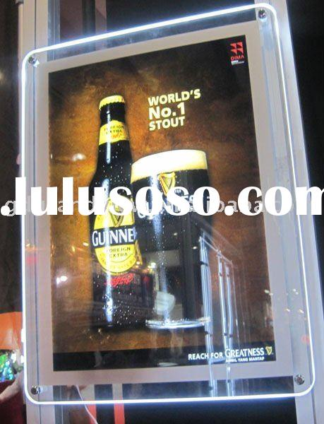 Crystal led light box advertising display