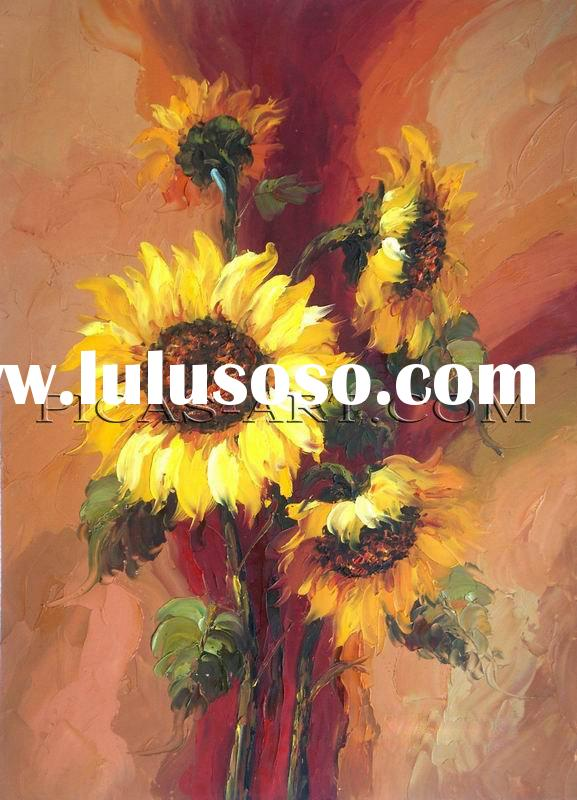 DCW110 100% Handmade Sunflower Oil Painting