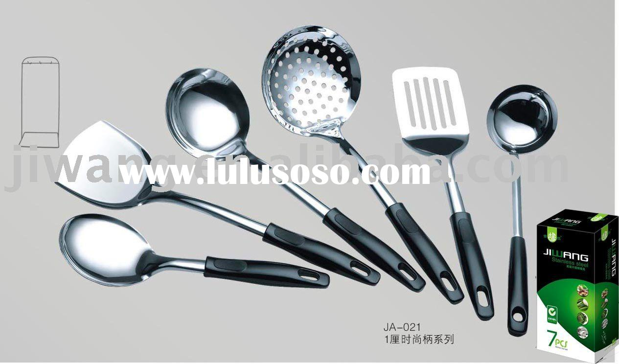JA 021 stainless steel kitchen accessories cooking set with color box