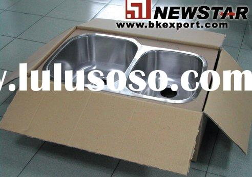 Kitchen Sink (undermount Stainless Steel Sinks,Double Bowl with 304 Stainless Steel Material)