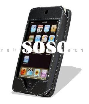 Leather Case for Apple iPod Touch 2nd (8GB/16GB/32GB) - Sleeve Type (Black) (A1ITO2LCST1BK)