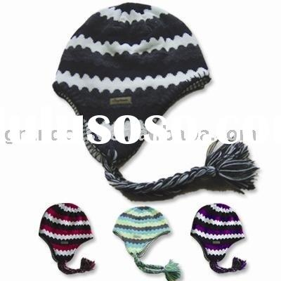 PIGTAIL KNITTED BEANIE