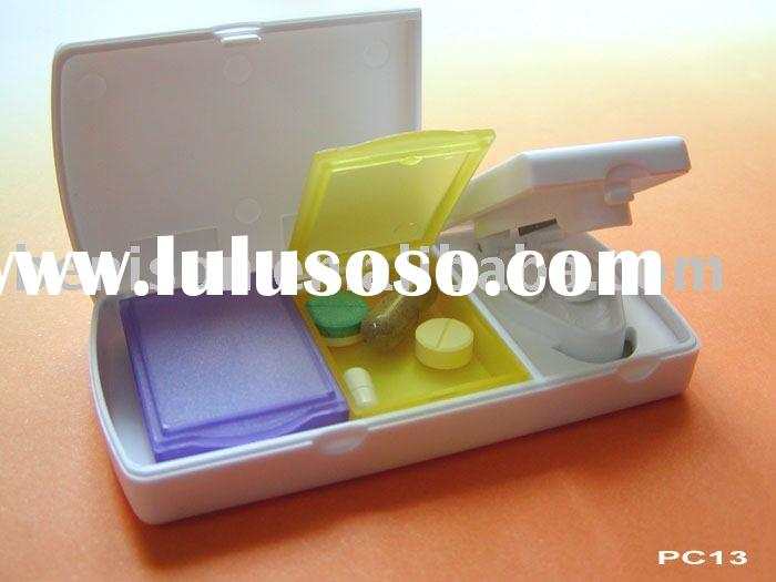 Pill cutter with pill box