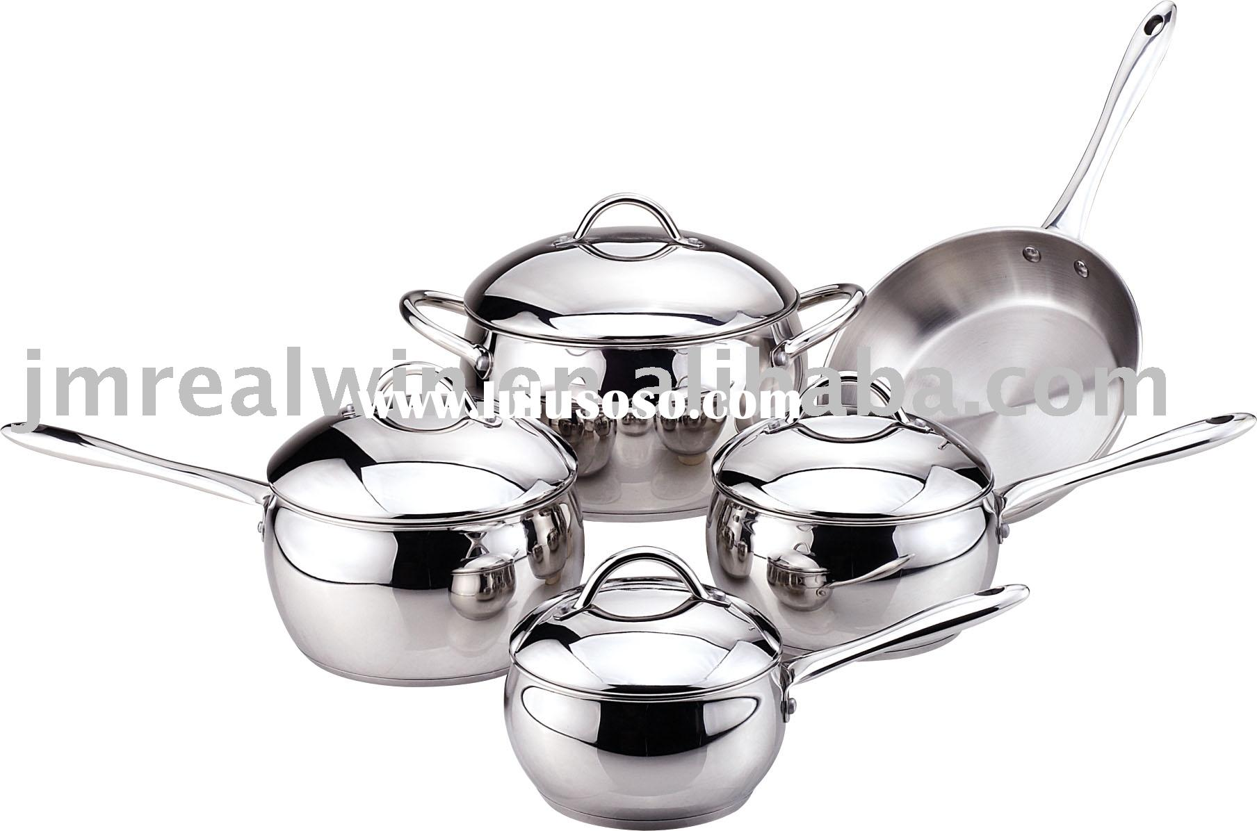 RW0915 9pcs Apple Shape Cookware Set