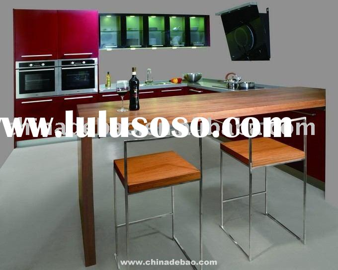 Red Lacquer Kitchen Cabinet