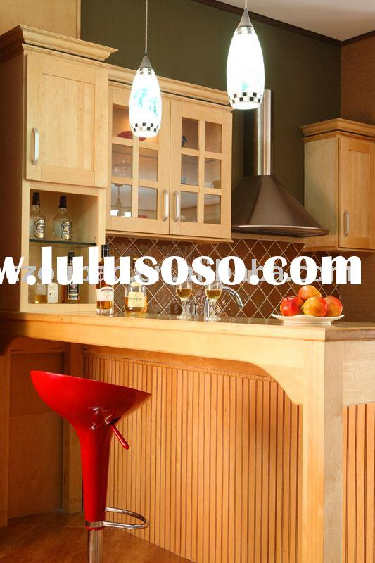 Shaker Door Natural Maple Kitchen Cabinet