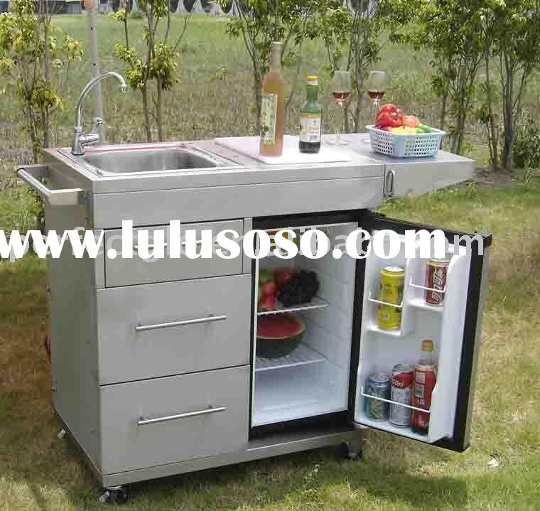 Stainless steel outdoor kitchen cart