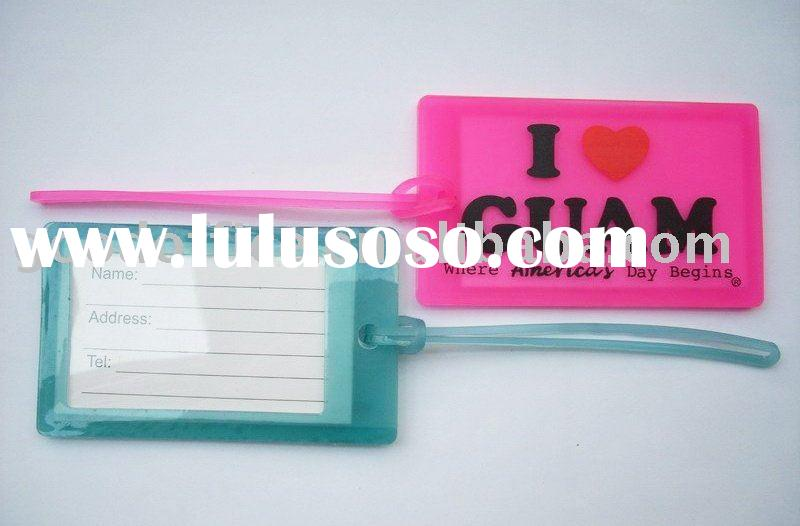 The latest popular product - soft rubber luggage tag