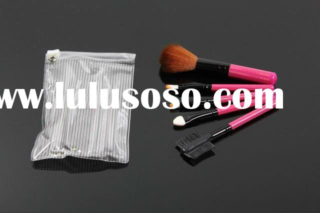 accept paypal,2011 hot selling hot pink makeup brush set