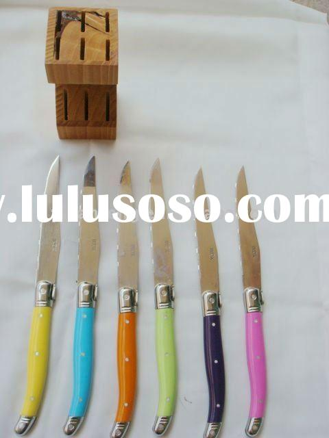 colorful steak knives