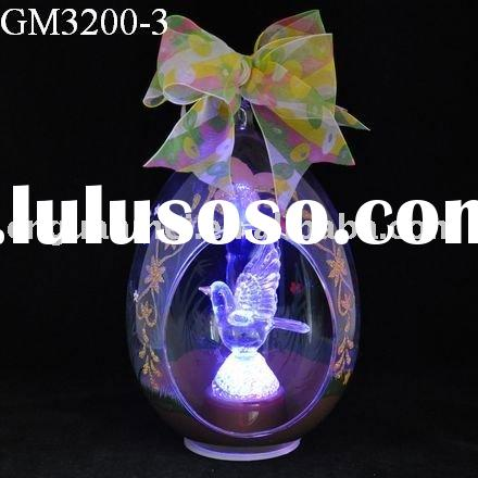 easter egg with LED light/glass art and craft