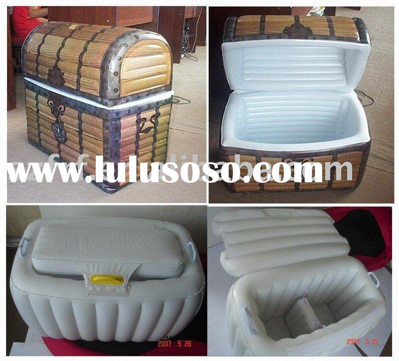inflatable cooler box,Inflatable Treasure Chest Cooler,inflatable pirate chest cooler,inflatable che