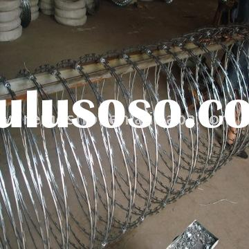 razor barbed wire/hot dipped galvanized razor barbed wire/razor wire/ concertina razor barbed wire/r