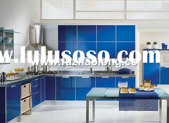 stainless steel & gloss doors kitchen cabinet