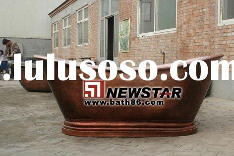 supply pure copper bathtub,hammered copper bathtub,copper polished bathtub