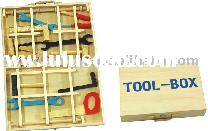 wooden pretend toy-tool set