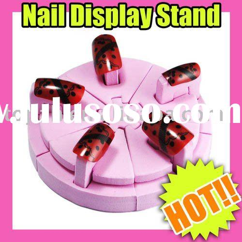 132 Fast Shipping Wholesales Price  Pink Nail Art Red Display Stand