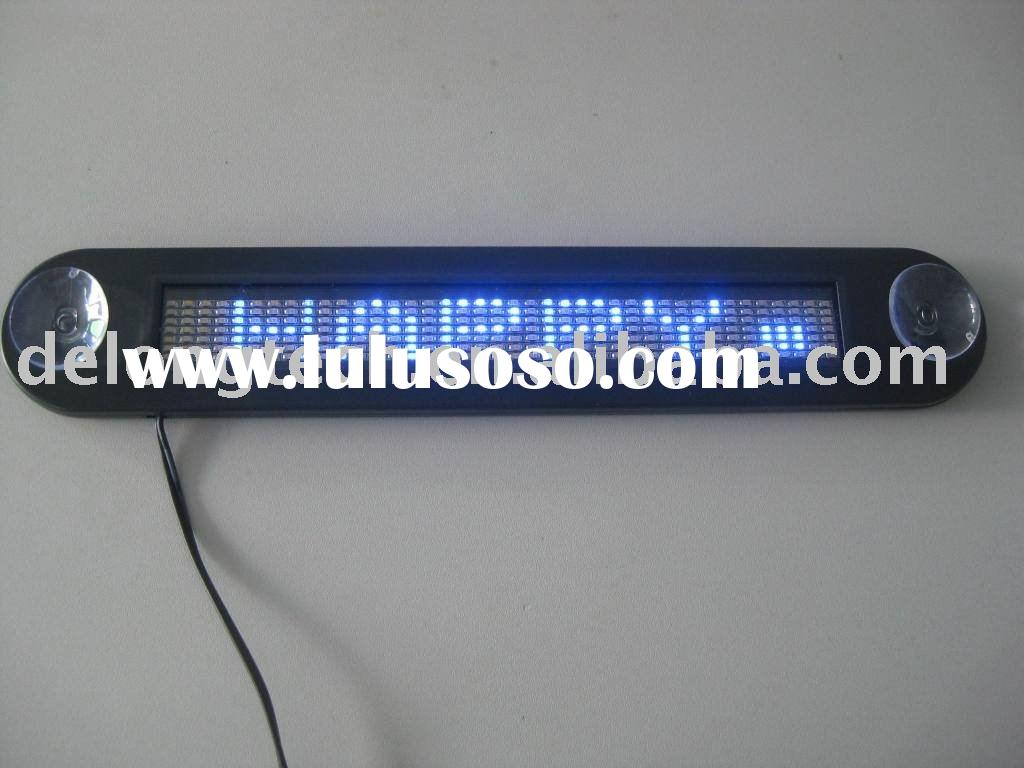 7*40pixel indoor scrolling led car window display