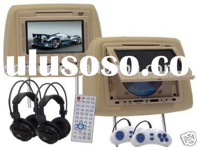 7' in car headrest tft-lcd tv with Game system (SJ-208HD)