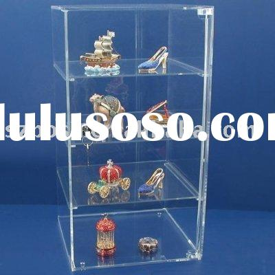 Acrylic Countertop Locking Jewelry Showcase Display