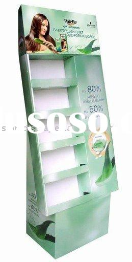 Cardboard display stands, POP Display stands for cosmetics