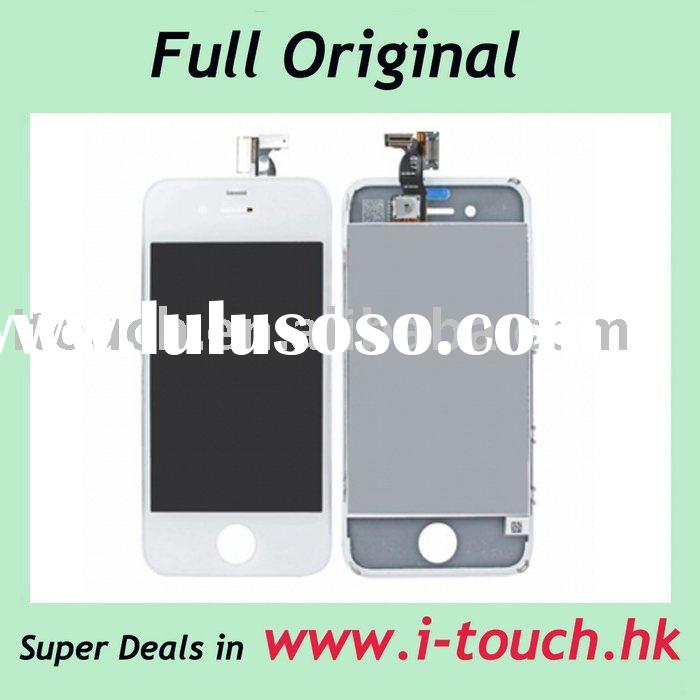 For iPhone 4 LCD Display Screen With Digitizer Touch Panel Original Assembly - White