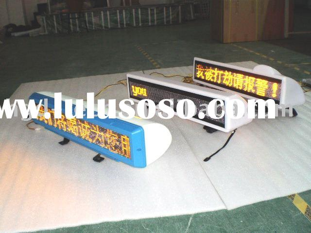 LED Taxi scrolling message display/sign/tag