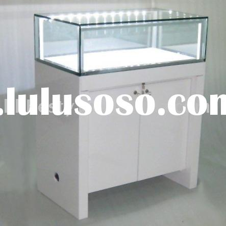 Wood jewelry display showcases with LED lights
