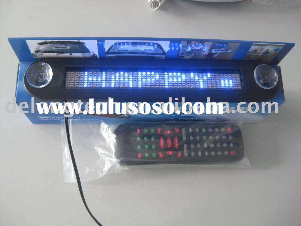 indoor scrolling car display led sign