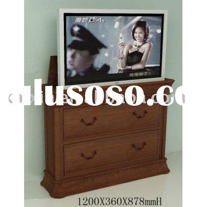 wooden bed end lcd tv lift stand