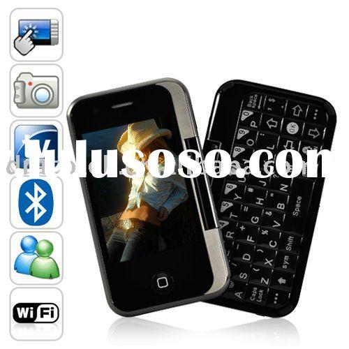 Swivel Touchscreen QWERTY phone dual SIM TV WIFI T3000