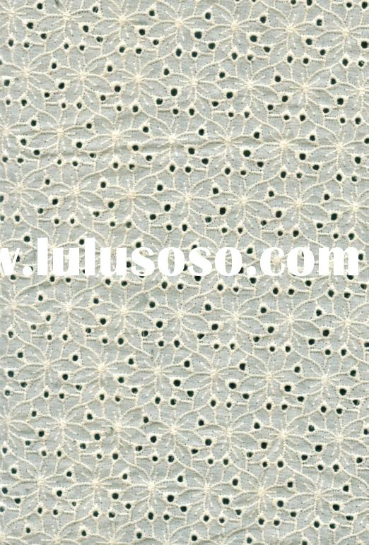100% COTTON EMBROIDERY LACE FABRIC