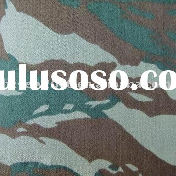 100% cotton camo printed satin fabric