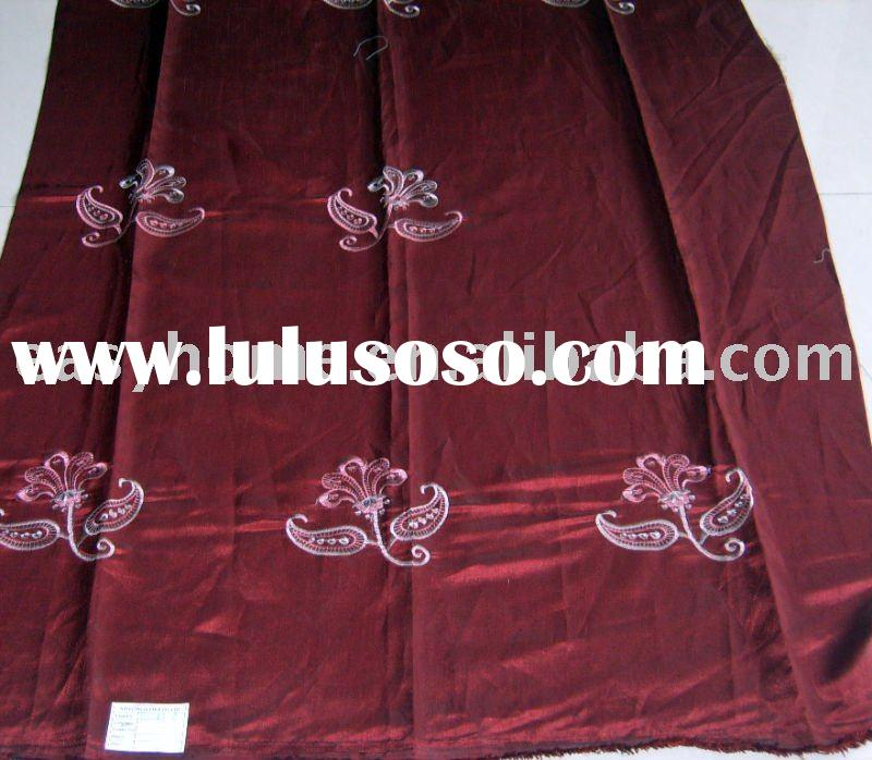 100% polyester FAUX SILK embroidered curtain fabrics
