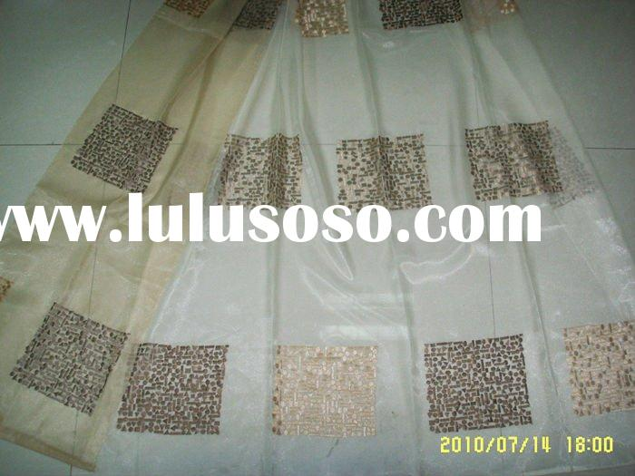 100% polyester faux silk embroidered curtain