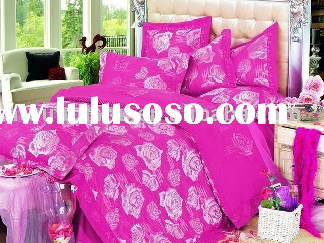 2010 New Collection for Color Knitted Jacquard Bedding Set, cotton bedding set