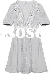 2011 newst embroidered silk lace lady wear(F136)