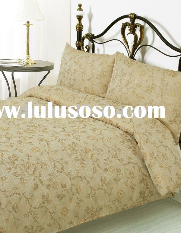 3 Pieces Color Woven Jacquard Bedding Set Comforter Bed linen Duvet Cover