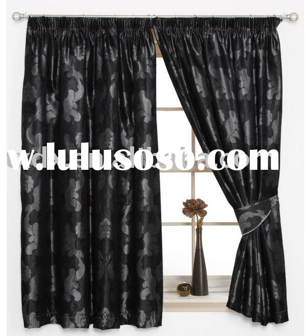 Color Woven Jacquard Window Curtain
