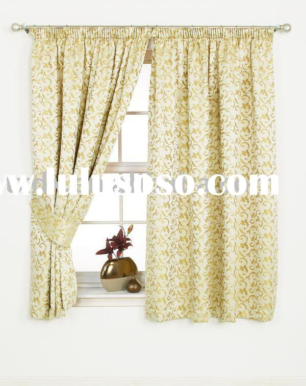 Color Woven Jacquard Window Curtain (DX-FWC033)