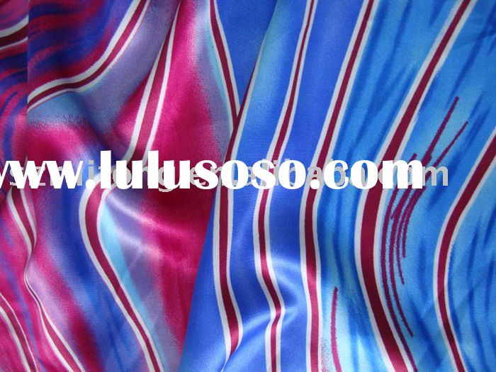 Emulation silk chiffon printed fabric