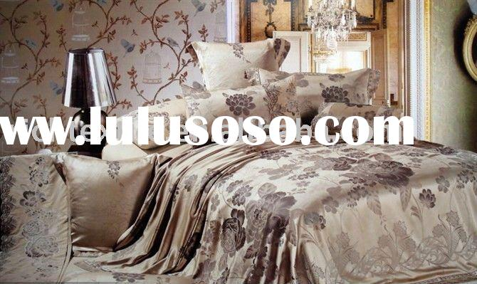 Imitated Silk Yarn Dyed Jacquard Bedding Set