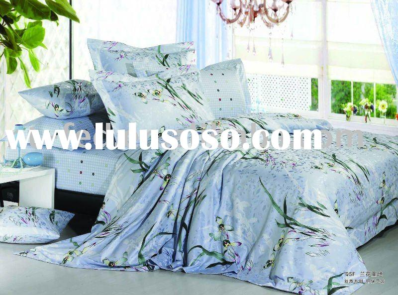 Jacquard with Printed Bedding Sets