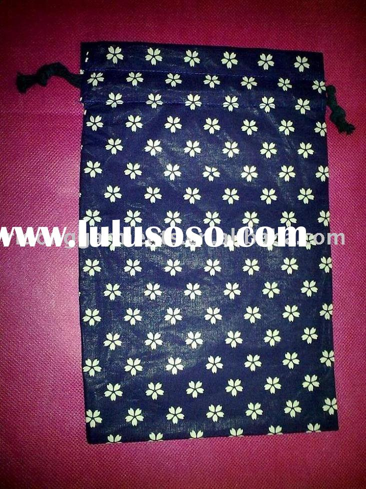 Japanese Style Printed Cloth Cotton Accessory Pouch
