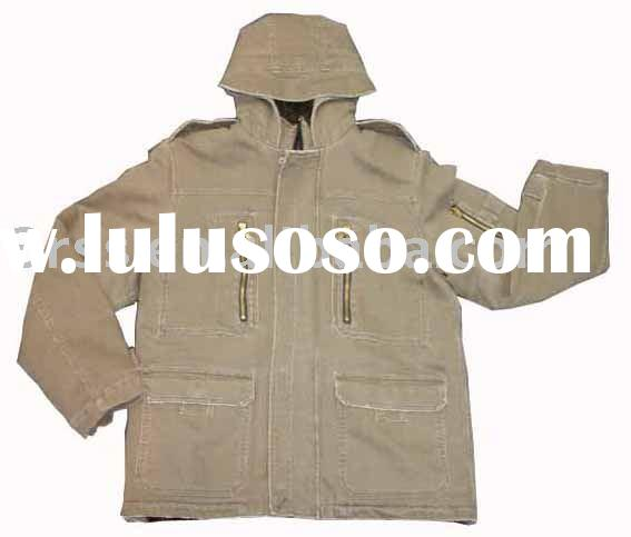 Men's Canvas Jacket,  cool jacket, cotton wear(3R-459FJ)