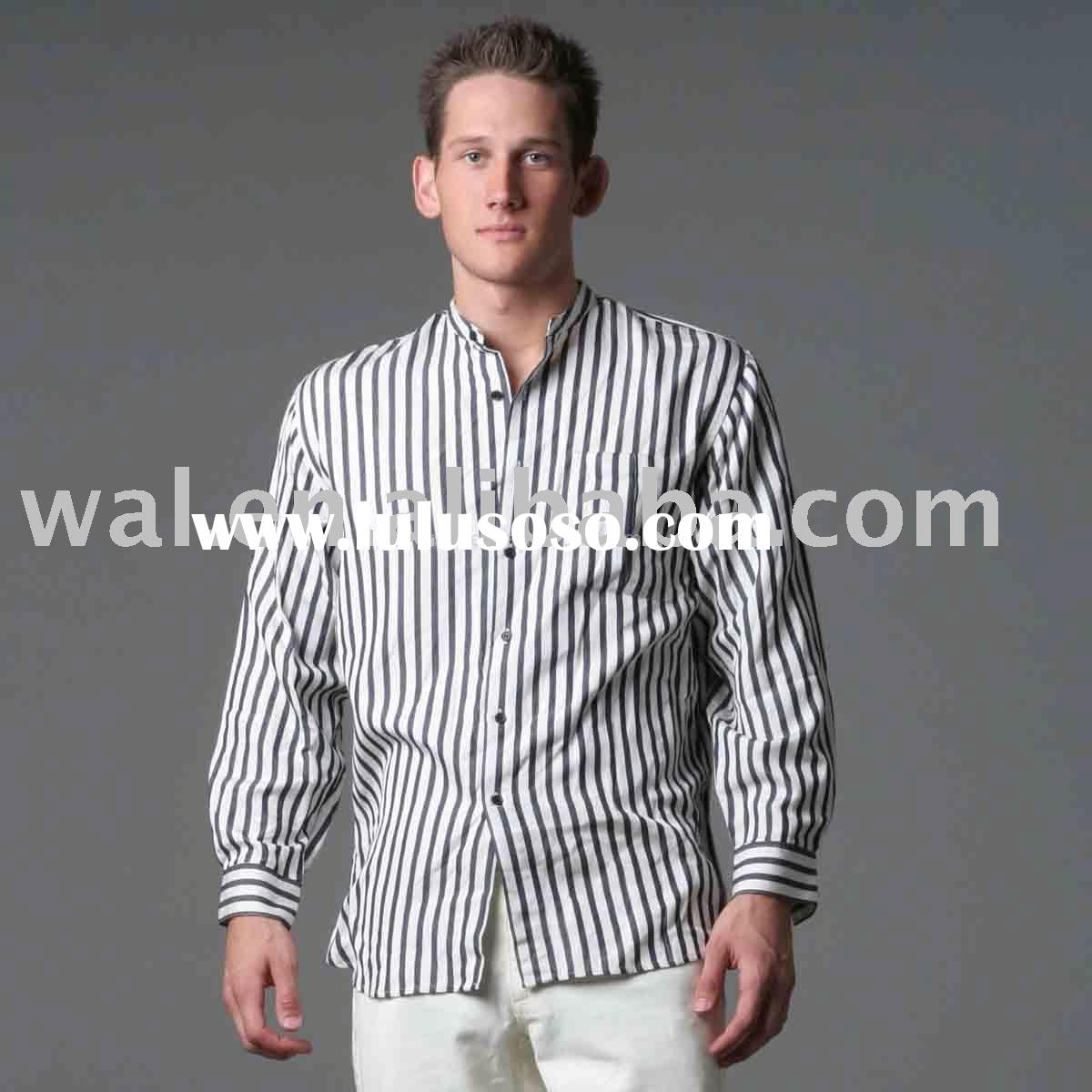 Men's cotton color stripes fashion shirts