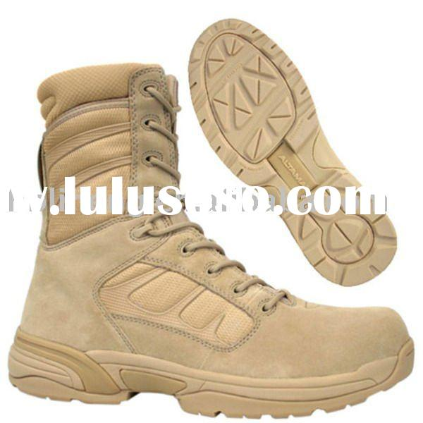 Military Army Police Security Forces Tan Desert Leather Ankle Desert Boots