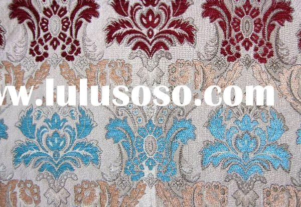 Polyester Chenille Jacquard Sofa and Curtain Fabric