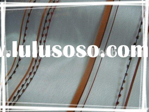 Polyester Upholstery Home Textile,Yarn Dyed Stripe Vintage Window Curtain Fabrics From HangZhou ZheJ