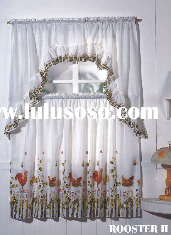Printed Polyester cotton Kitchen Curtain